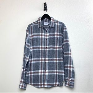 [Goodfellow] Plaid Button Down Shirt